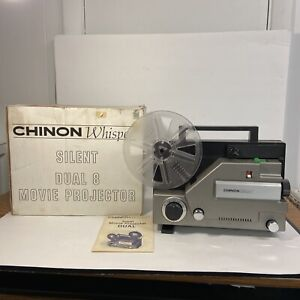 Chinon Whisper 727 Silent Dual 8 Movie Projector 8mm Film