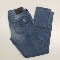 Diesel Hushy Sz 29 008W7 Slim Ankle Low Rise Stretch Preowned  Distressed Jeans