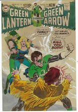 GREEN LANTERN GREEN ARROW # 78 *ORIGINAL COLOR GUIDE* NEAL ADAMS PLUS PROOF