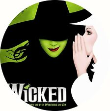 """Wicked Broadway Musical Theatre Poster Edible Icing Sheet Cake Topper 7.5"""""""