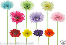 Artificial Small Silk Gerbera Flower Heads - Quality New Daisy Colourful Flowers
