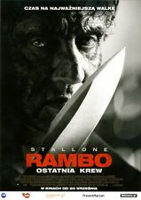 Sylvester Stallone Adrian Grunberg - Rambo Last Blood - Polish promo FLYER