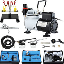 New 3 Airbrush & Compressor Kit Tattoo Nail Art For Hobby Makeup Model