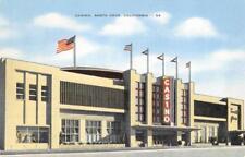 Casino, Santa Cruz, California ca 1940s Vintage Linen Postcard