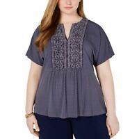 MICHAEL KORS Women's Plus Size Printed Flutter Sleeve Blouse Shirt Top 2X TEDO