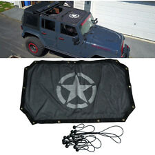 Half Bikini Top Cover Eclipse Sunshade UV Protection For Jeep Wrangler 2/4 Door