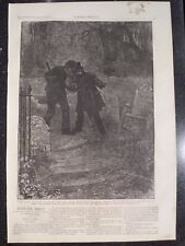 Victorian Era Nefarious Happenings In The Grave Yard Harper's Weekly 1872