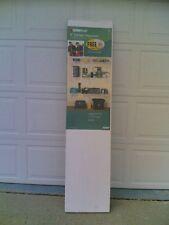 "Nib ClosetMaid 72"" W x 16"" D Garage Wall-Mount White-Finish Metal Wire Shelf"