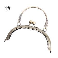 16.5cm Antique Brass Handbag Handle Metal Frame Kiss Clasp Lock Purse Frame TH