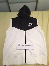 Nike Mens Wear Mesh Sleeveless Full Zip Hood 648654-100 Sz Large