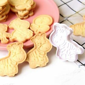 Animals DIY Baking Tools Cookie Cutters Set Biscuit Mold Stamp Plunger Press