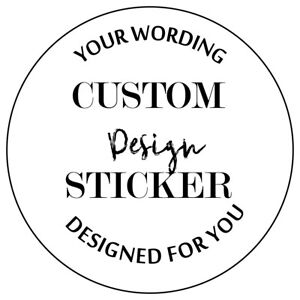 Bespoke Custom Made stickers, seals personalised names birthday wedding favours