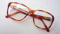 Große Herrenbrille massiv eckige Glasform  braune Hornoptik stabil 54-20 Gr. M