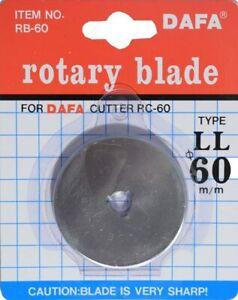 1 X 60mm DAFA Rotary Cutter Spare Replacement Blade Fits FISKARS & OLFA
