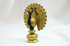 Handmade Solid Wooden Peacock Painting India Idol Painting Home Decorative Gift