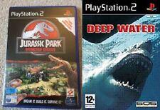 jurassic park operation genesis USED         &         deep water NEW&SEALED