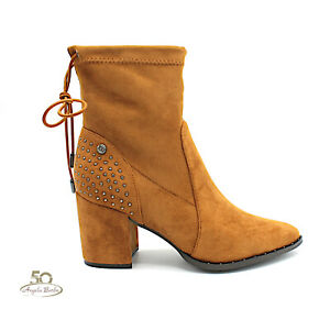 Booties Women's Elegant With High Heel Ankle Boots Shoes Boots Low Xti