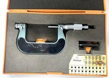 Mitutoyo 126 903 Screw Thread Micrometer With Interchangeable Tips 2 3 Range