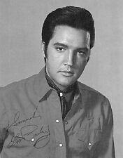 Vtg RARE B&W Portrait of ELVIS PRESLEY Autographed Signature Head Shot Photo 9