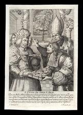 santino incisione 1600 S.TUTONE V. DI RATISBONA franck