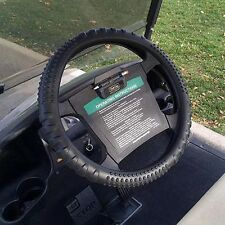 Washable Silicone Golf Cart Steering Wheel Cover/BLACK/EZGO, Club Car, Yamaha