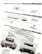 1963 1964 DODGE POLARA 330 440 MOTOR'S ORIGINAL BODY CRASH ILLUSTRATIONS M 2