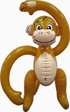 Aufblasbarer Affe ca. 60cm / Urwald Deko, Dschungel, Aufblas-Äffchen, Schimpanse
