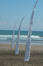 2 x 5M WHITE Bali Flags for Wedding / Event.