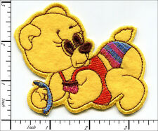 20 Pcs Embroidered Iron on patches cute Baby Bear 9x7cm AP031jc