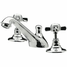 Deck Mounted Traditional Chrome 3 Hole Bathroom Taps
