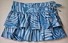 Roberto Cavalli Bebé Niñas Azul Zebra Ruffle Falda 4 años