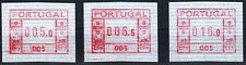 Portugal Frama ATM * 1981 *  first button set 5.0/ 6.5 /16.0 * MNH * + Maxicard
