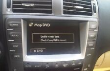 Repair of Lexus Toyota Navigation DVD error, system unusable