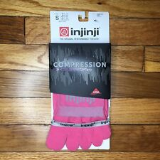 Injinji Toe Socks Crew Length Performance Sport Hot Pink Over Calf Small New