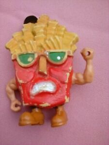 FOOD FIGHTERS FRENCH FRY GUY 1988 MATTEL SOFT RUBBER CHARACTER FIGURE