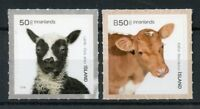 Iceland Stamps 2018 MNH Baby Farm Animals Lamb Sheep Cows 2v S/A Set