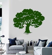 Vinyl Wall Decal Green Oak Tree Nature House Interior Stickers (728ig)