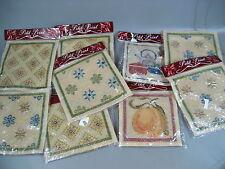 9 x Stickpackung > ALt > Gobelin Stickbild  > Wolle Stramin Ungebraucht Sticken