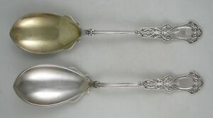 Sterling Whiting ALHAMBRA berry/vegetable spoons - PAIR (1880)