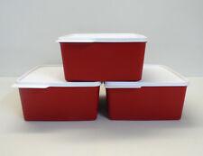 Tupperware 3x Réfrigérateur 2,5 L froid de coin, fraîcheur maître, rouge