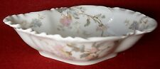 HAVILAND France Limoges Schleiger 86 CHRYSANTHEMUM Oval Fruit Side Bowl 6-1/4""