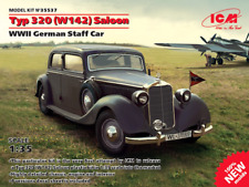 ICM 1/35 Mercedes TYP 320 (W142) Saloon II Guerra Mundial Alemán Bastón coche #