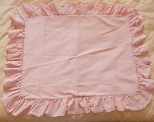 Vintage Ralph Lauren Pillow Sham Cover Blue Label Pink Oxford Cloth Twin