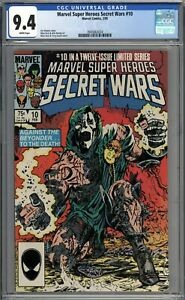 Marvel Super Heroes Secret Wars #10 CGC 9.4 NM WHITE PAGES