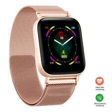 New Smart Watch Fitness Activity Tracker Heart Rate Monitor Stainless Steel Band