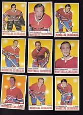 1970 Topps Team LOT of 9 Montreal CANADIENS Near Mint VACHON Yvan SAVARD LEMAIRE