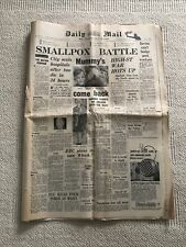 More details for original vintage daily mail newspaper dated 13th january 1962 - news