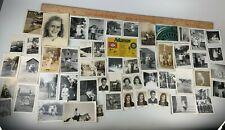 Original WWII 1950s Photo Lot of 50 Children Family Cowboys School House Cars 3