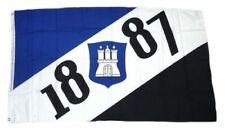 Flagge / Fahne Hamburg 1887 Fan Hissflagge 90 x 150 cm