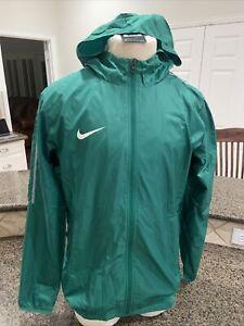 Nike Mens Dry Park18 Football Windbreaker Jacket Size L Green Pockets Mesh Lined